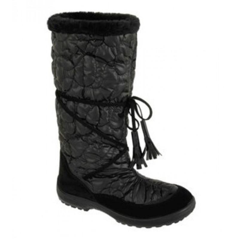 Сапоги для девочки, Гламур черный 406/03 KUOMA/Куома. Финляндия. 30 размер