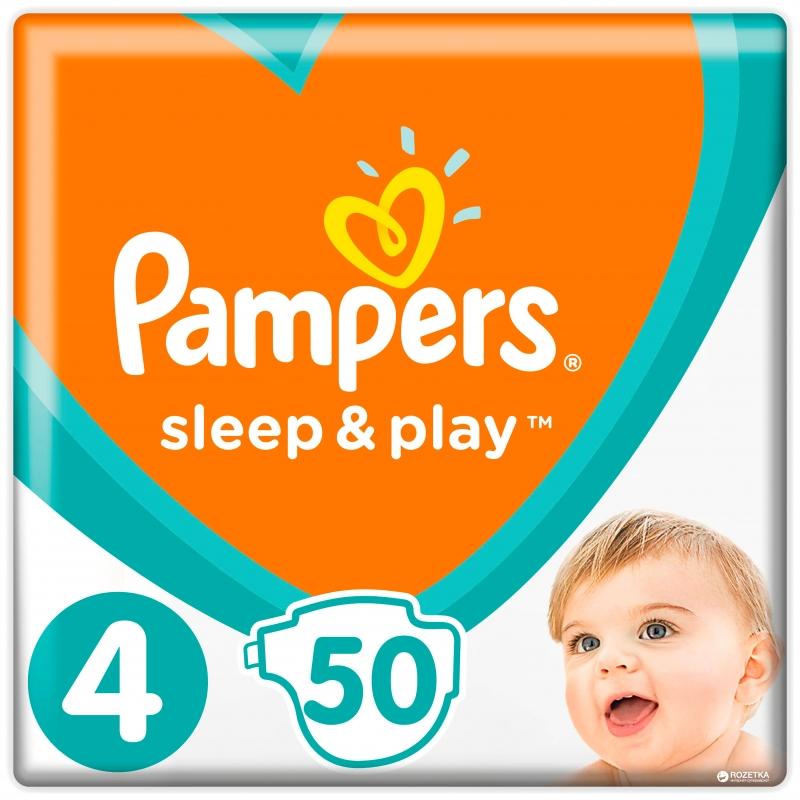 Подгузники Sleep and Play,(4) 7-14кг, 52шт  Памперс