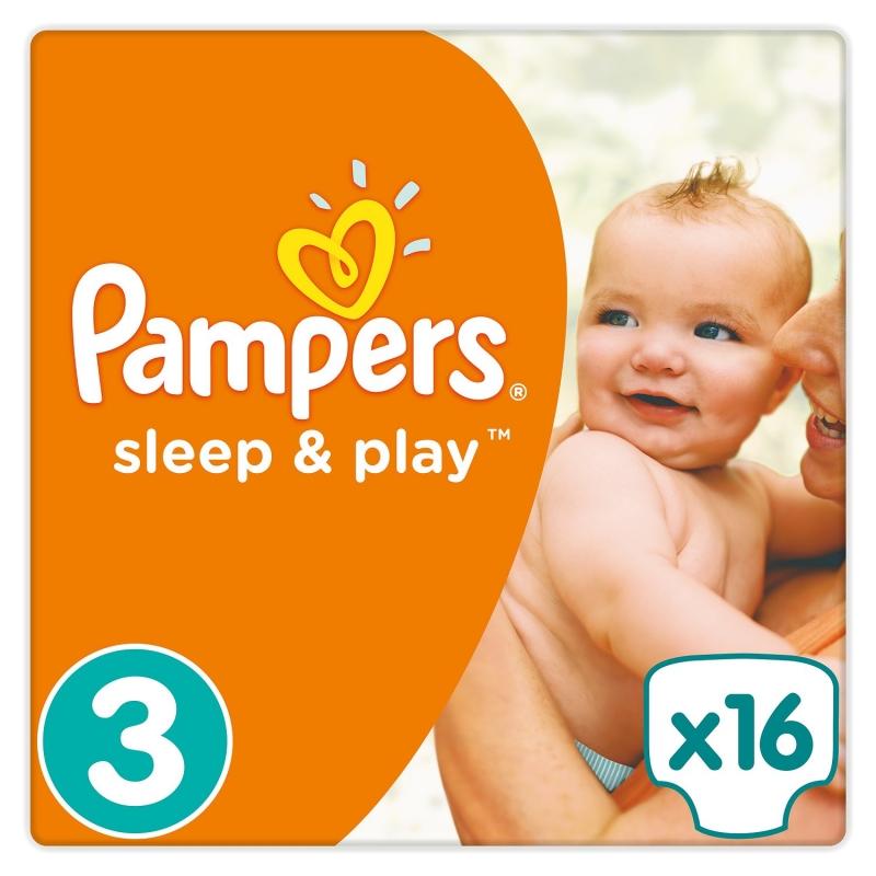 Подгузники Sleep and Play,(3) 5-9кг, 16шт Памперс