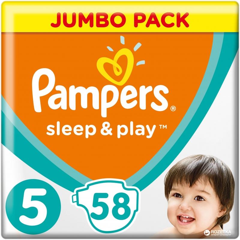 Подгузники Sleep and Play,(5) 11-18кг, 58шт  Памперс