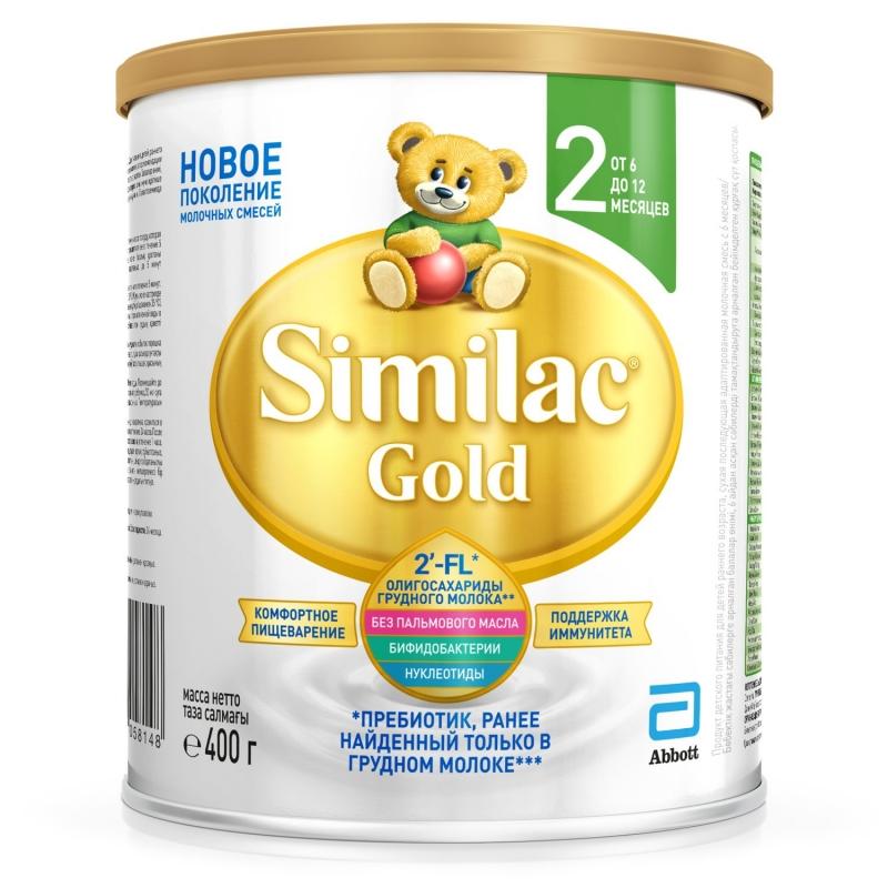 Смесь молочная Голд-2, 6-12 мес, 400г 987185 Симилак