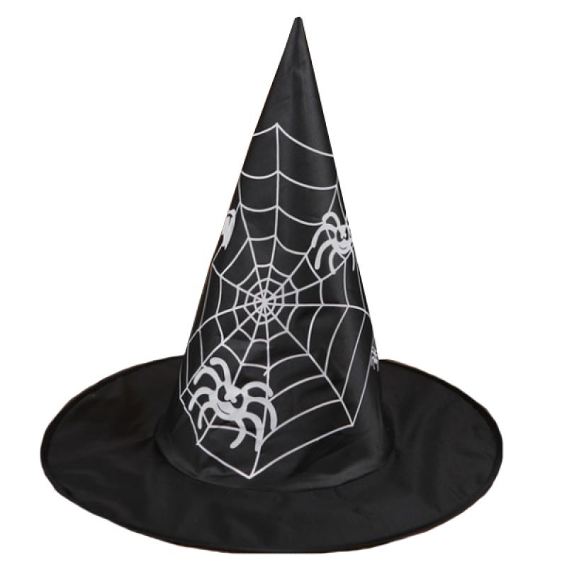 Шляпа с паутиной 31см черный ПК018 Патибум