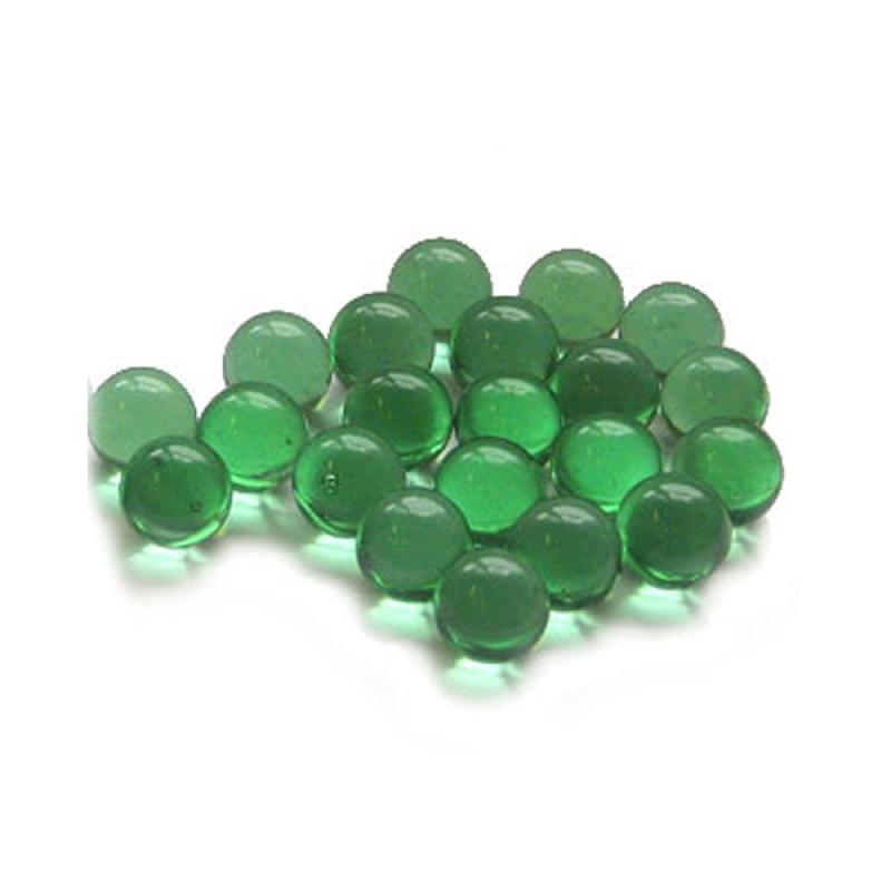 Марблс стеклянные шарики 9-11мм 360г декоратор зеленый 986856 Патибум