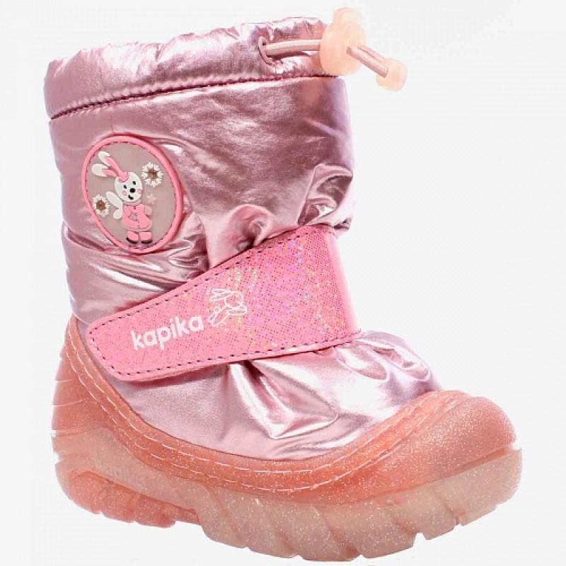 Сапоги для девочки дутики розовые 1120к-2 Капика/Kapika