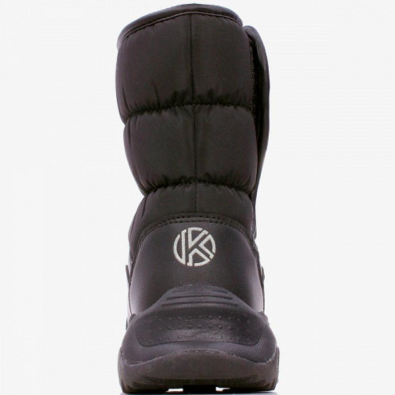 Сапоги для мальчика дутики черный 1175д-2 Капика/Kapika