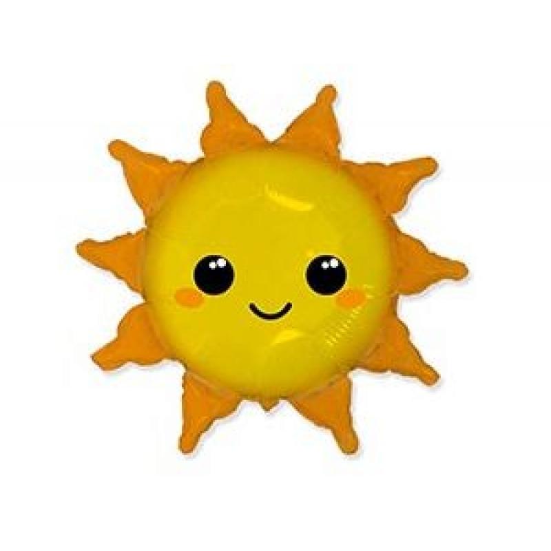 Шар фольгированный с гелием солнце 73*78см 1207-4435 Flex Metal Испания