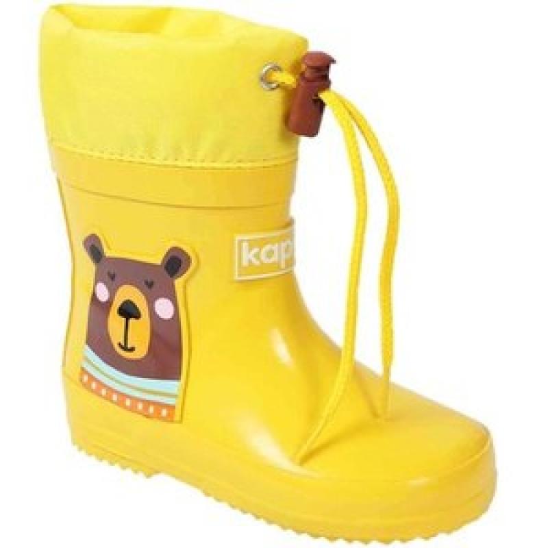 Сапоги резиновые для мальчика и девочки, желтые 1274тн-1 Капика/Kapika