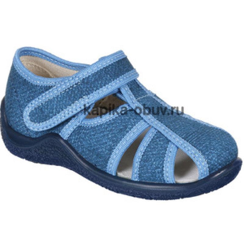 Босоножки для мальчика, синий текстиль 22265ф-24 Капика/Kapika