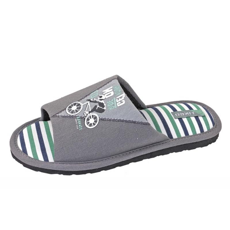 Тапочки домашние для мальчика серый 30425 tingo/  DominoТРоссия