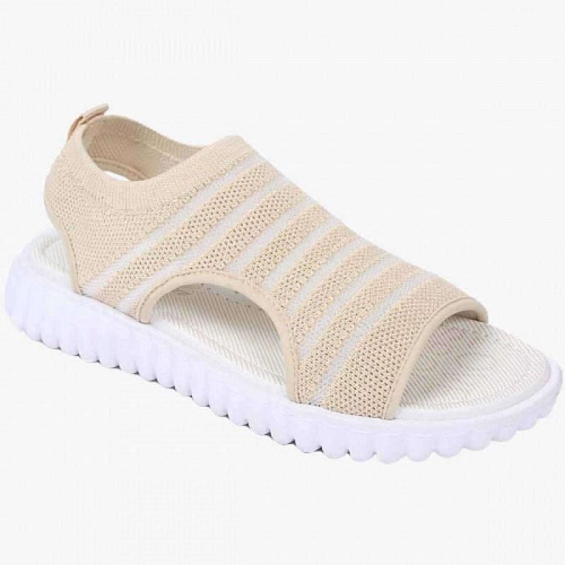 Босоножки для девочки открытый носок и пятка, бежевый текстиль 33625-2 Капика/Kapika