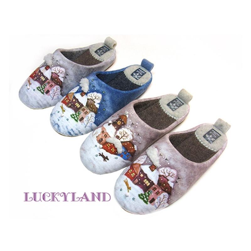 Тапочки домашние для девочки Зима 3578 LuckyLand Россия
