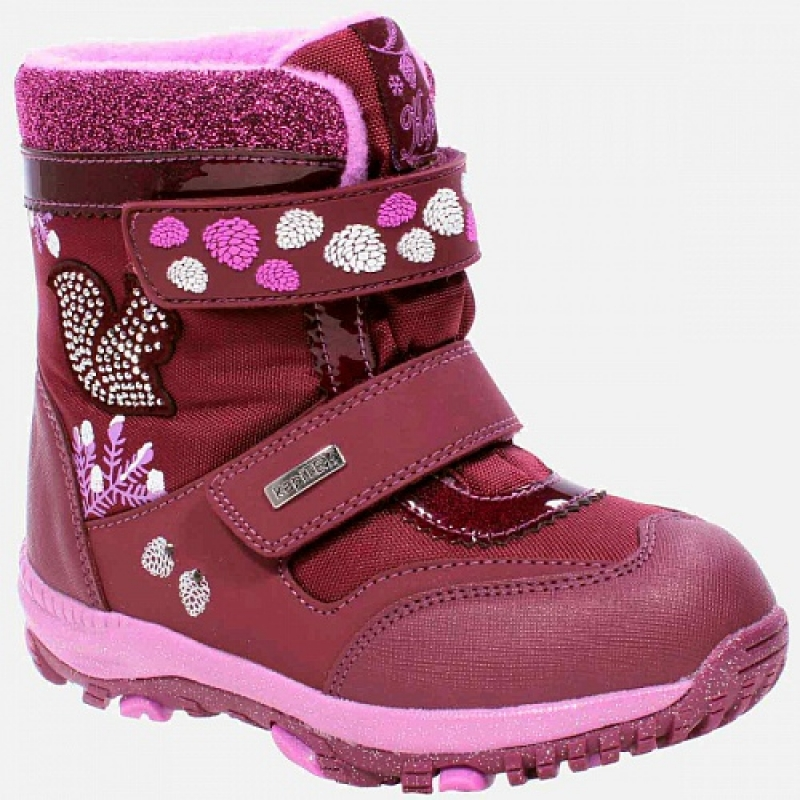 Ботинки для девочки, бордо мембрана 42319-2 Капика/Kapika