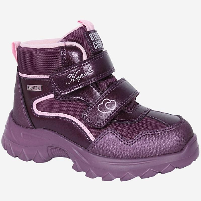 Ботинки для девочки бордо мембрана 42413л-1 Капика/Kapika