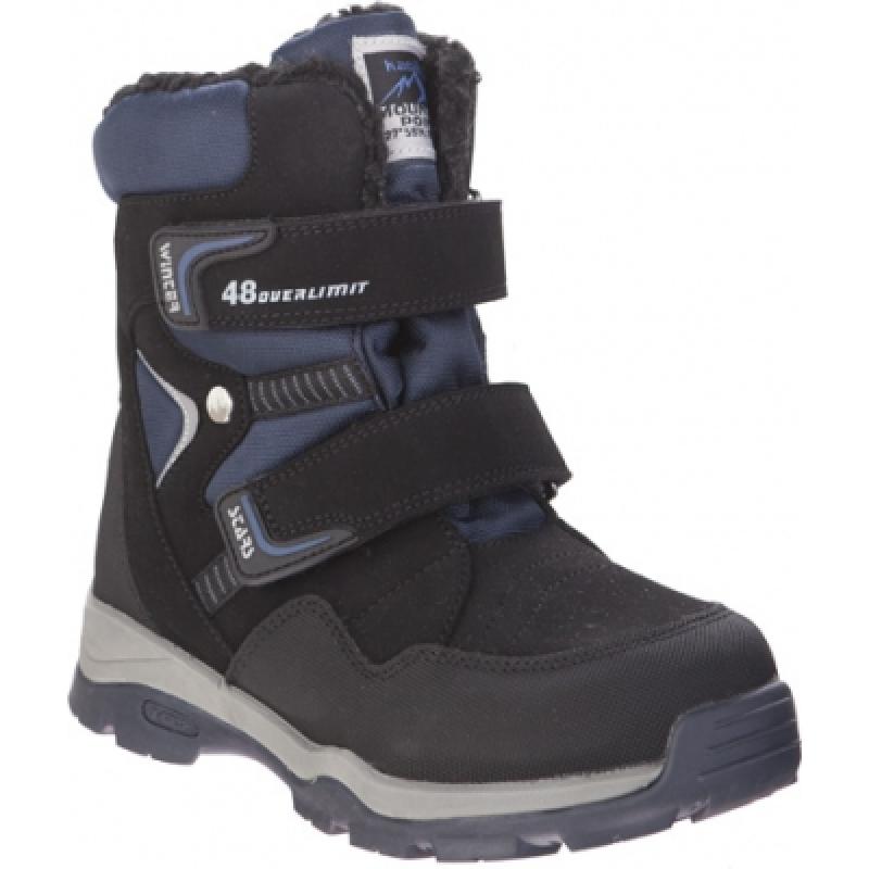 Ботинки для мальчика, черные, мембрана 43300-2 Капика
