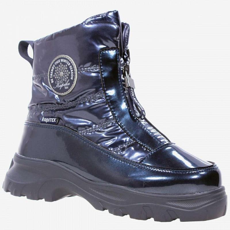 Ботинки для девочки синий мембрана 43429-2 Капика/Kapika