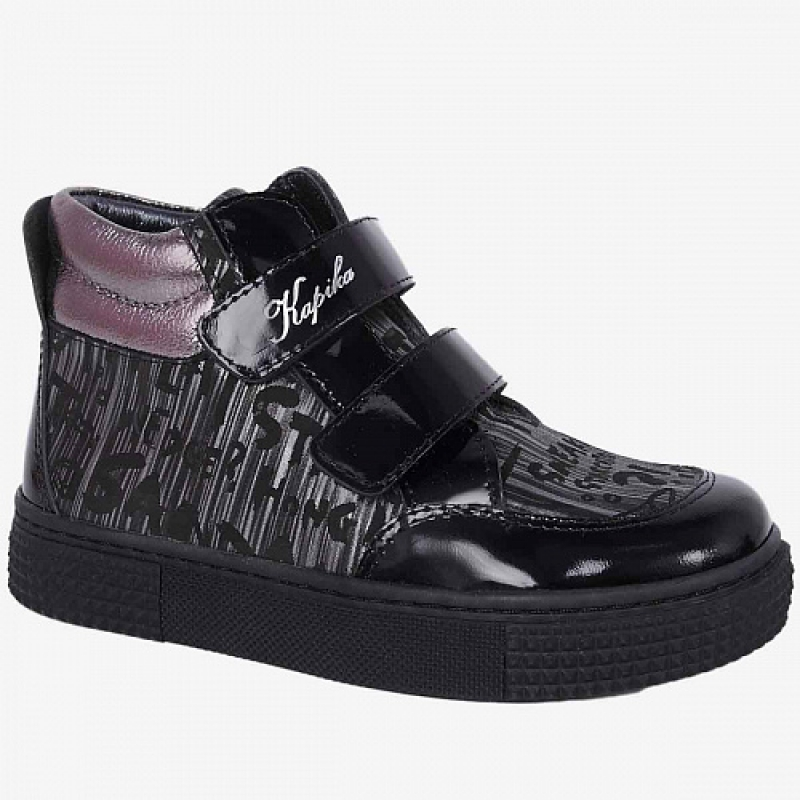 Ботинки для девочки черный 52409ут-1 Капика/Kapika