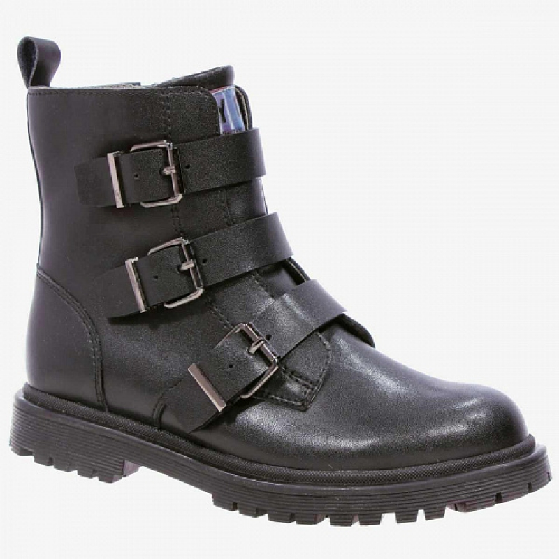 Ботинки для девочки черный кожа 53357ук-1 Капика/Kapika