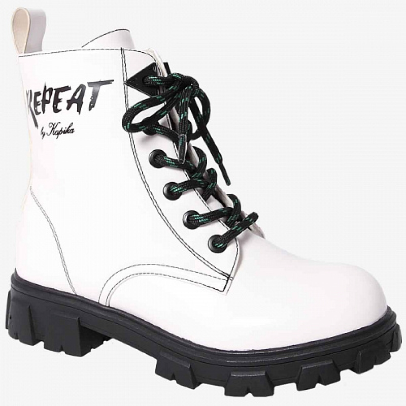 Ботинки для девочки белый 53440уп Капика/Kapika
