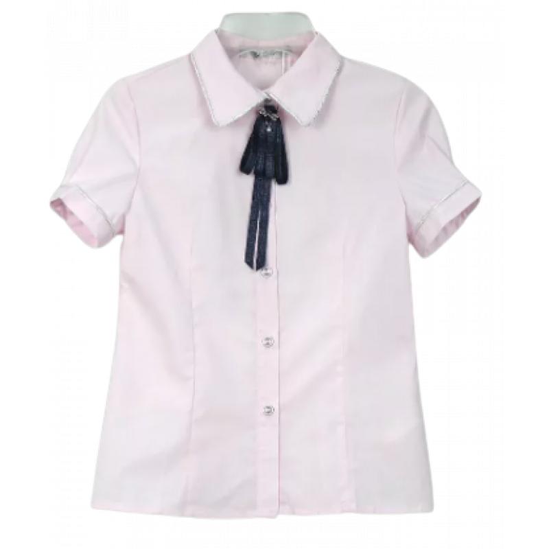Блузка с коротким рукавом для девочки голубой C62874S Deloras