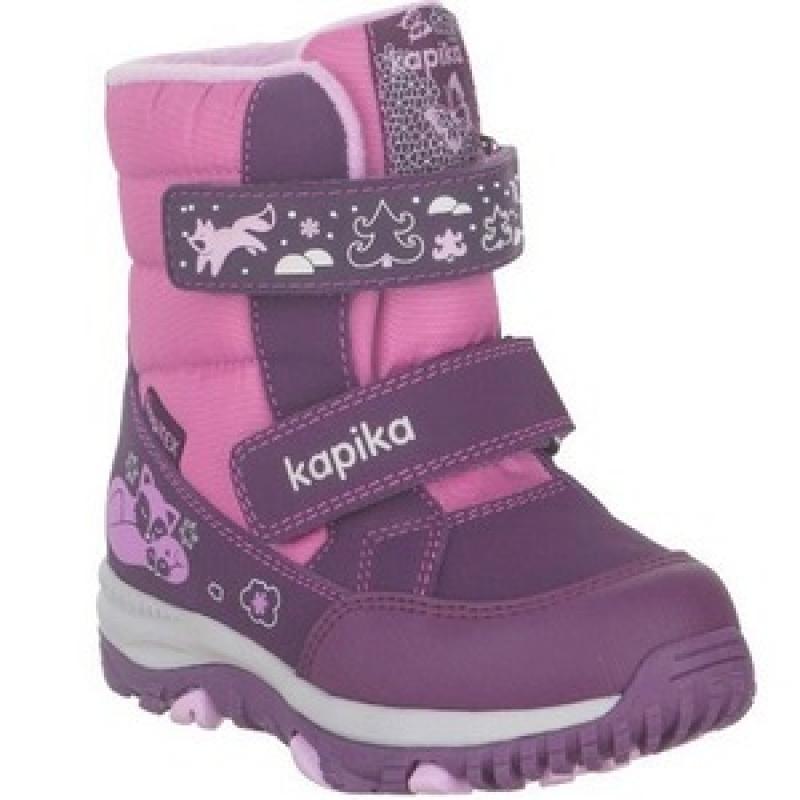 Ботинки для девочки  мембрана 41220-2 Капика