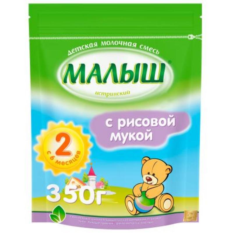 Смесь молочная -2, 6-12 мес., 350 с рисовой мукой 985634 Малыш Истринский