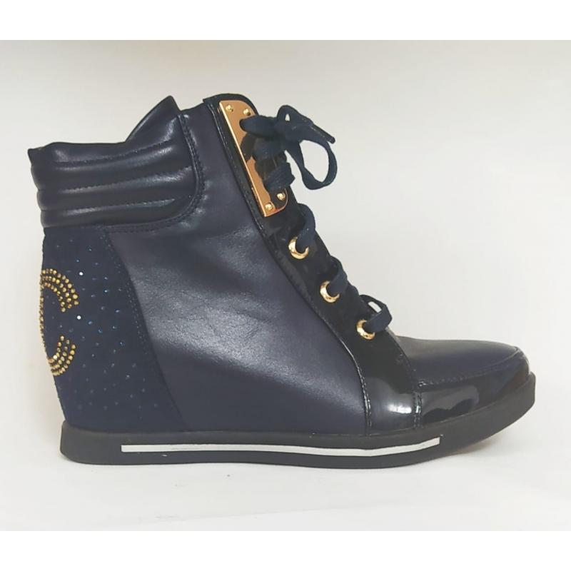 Ботинки для девочки синий С168-Д1 Bonadda 33,34,35,35,36,36,37(р)