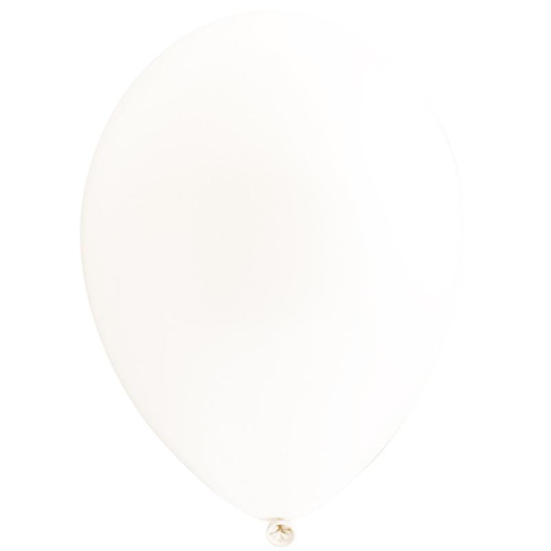 Шар латекс с гелием 30см белый 11021348 Веселая Затея